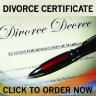 fake divorce decree, fake divorce, divorce novelty certificate