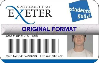 novelty id, novelty id card, driver license novelty EXETER UNIVERSITY novelty id designer software custom university card