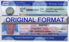 THAILAND identity , driveing license, novelty identity united kingdom, great britian drivers license, thailand driver