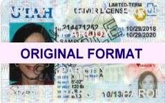 UTAH DRIVER LICENSE ORIGINAL FORMAT, DESIGN SPECIFICATIONS, NOVELTY SECURITY CARD PROFILES, IDENTITY, NEW SOFTWARE ID SOFTWARE